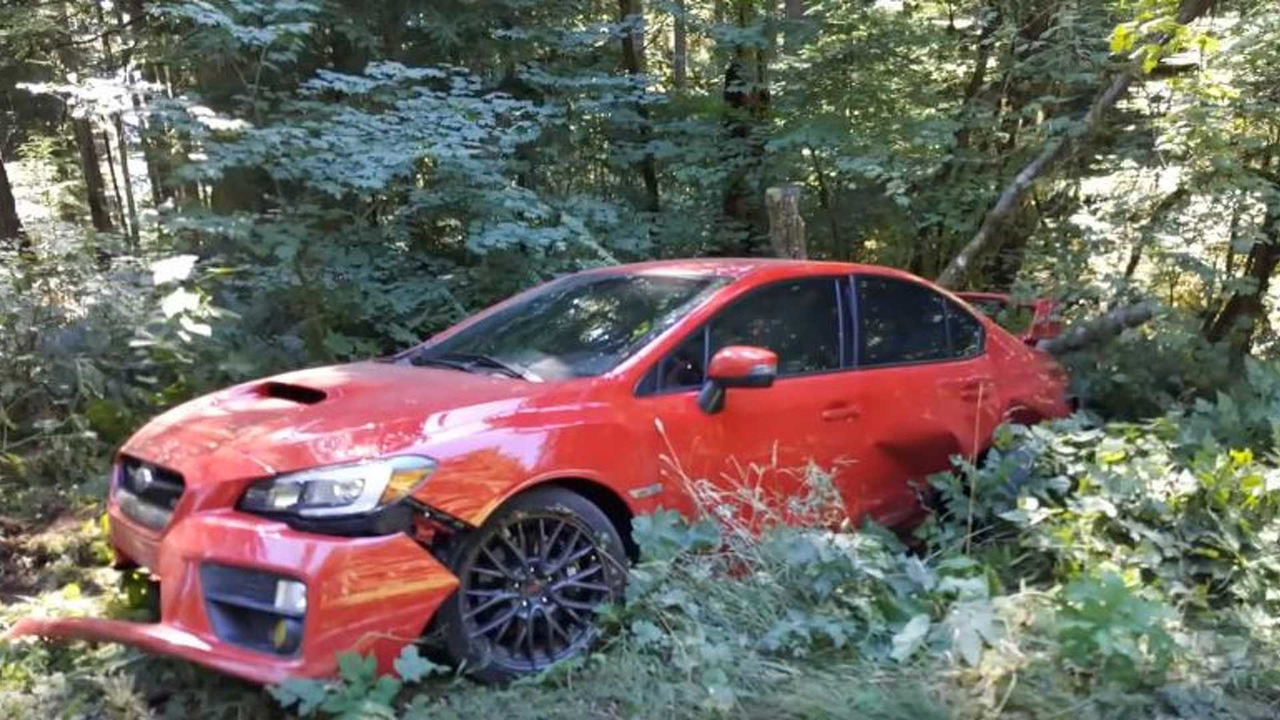 Subaru WRX STI Crash