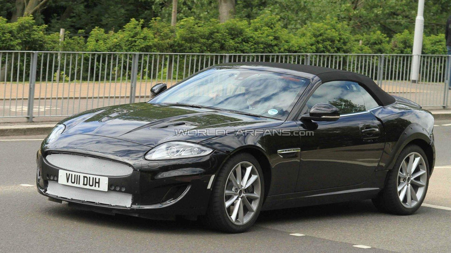 First 2013 Jaguar XE mules spied on the road