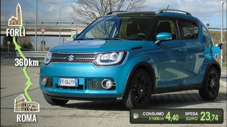Suzuki Ignis, la prova dei consumi reali