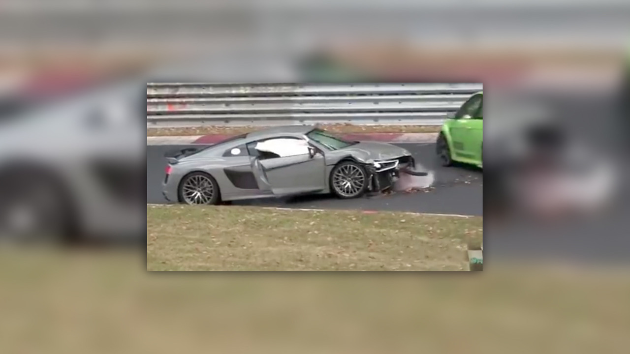 Audi R8 Crash Nurburgring