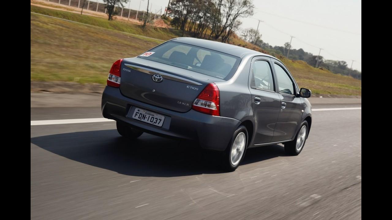 Toyota Etios Sedan tem o menor custo de reparação do mercado
