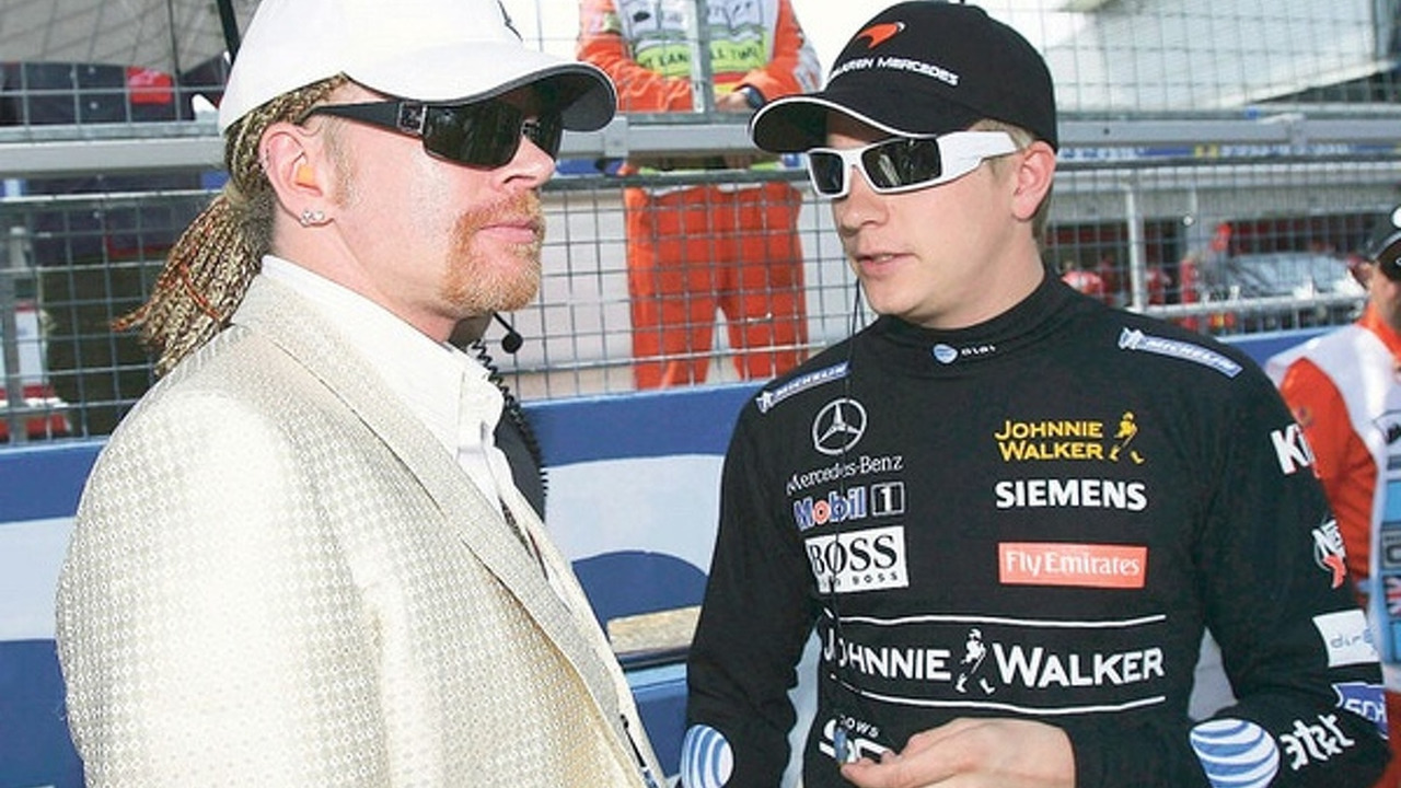 Axl Rose and Kimi Räikkönen