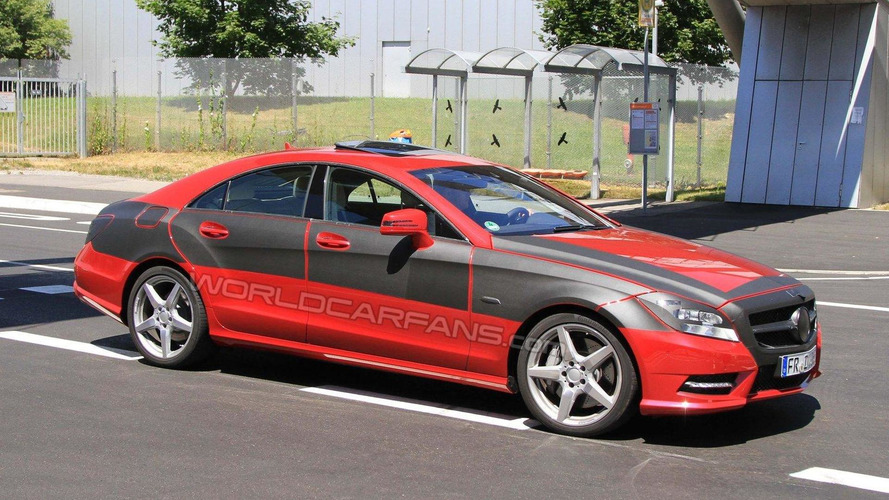 2012 Mercedes CLS prototype emerges in red - clearest spy photos yet