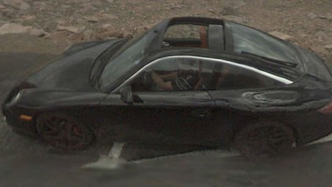 Porsche spy photos by Google Street