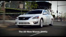 Vídeo: Nissan divulga novos comerciais do Novo Altima 2013