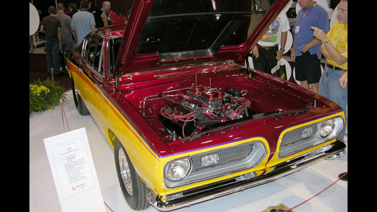Bei diesem 1968er Plymouth Hemi Cuda zeigt sich der Motorraum sehr übersichtlich