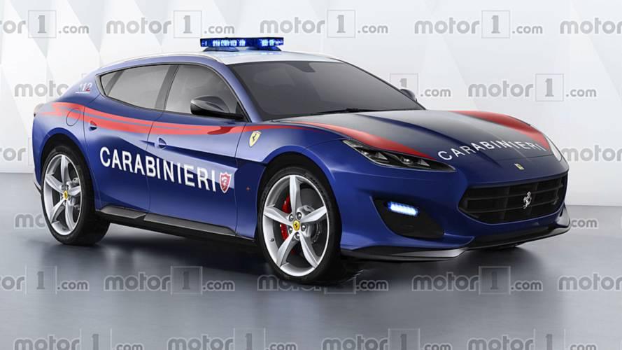Le SUV Ferrari de la police italienne