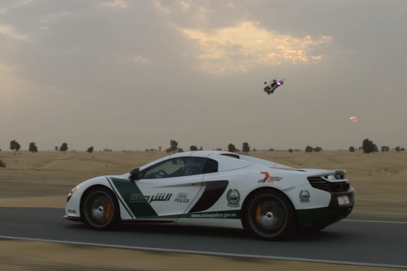Watch a Dubai Police McLaren Race a Drone Because Why Not
