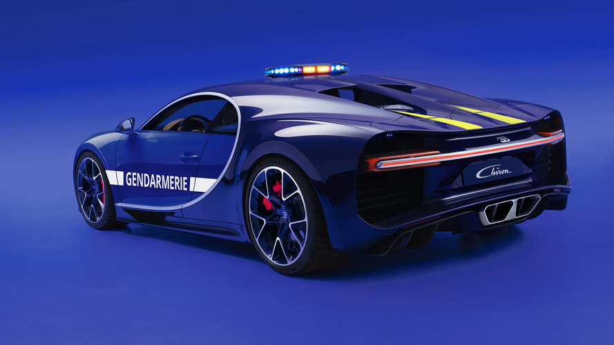 Bugatti Chiron for the French police