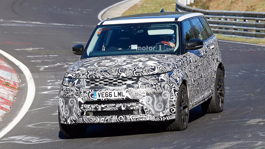 Range Rover Sport SVR Spied Lapping the 'Ring