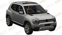 Volkswagen Taigun production version patent sketch 30.04.2013
