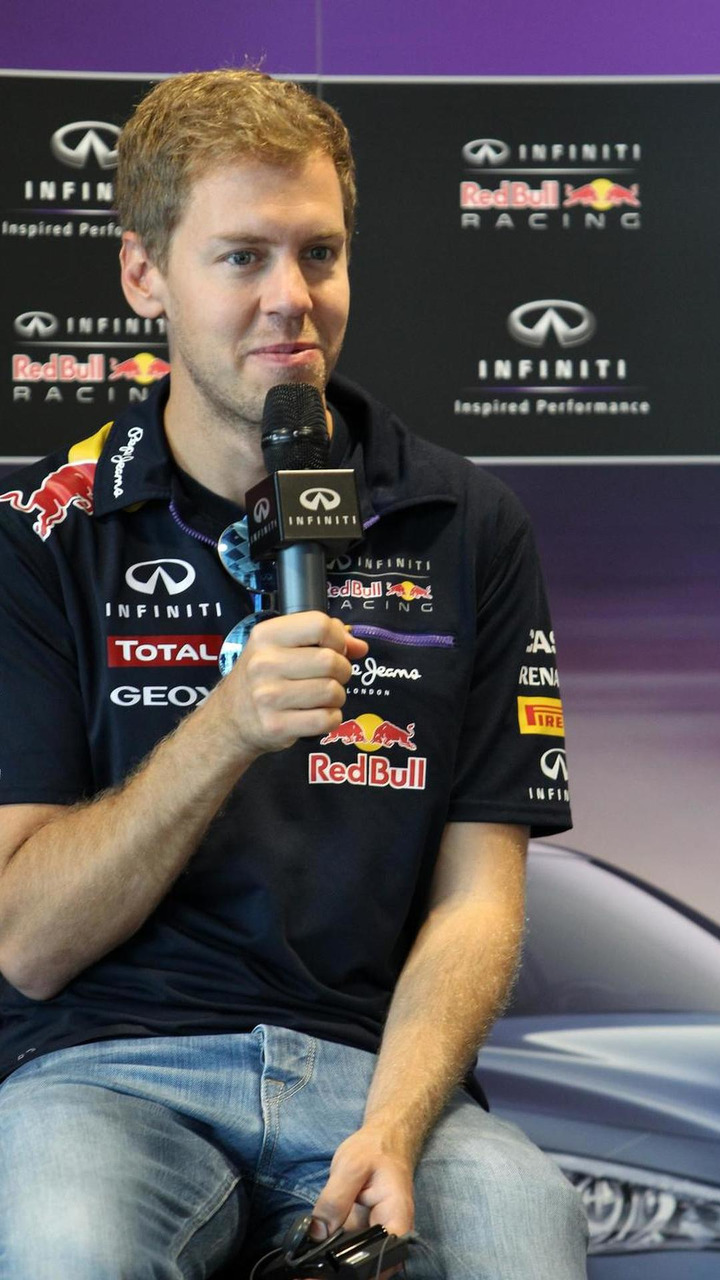 Sebastian Vettel at an Infiniti press conference in Sochi