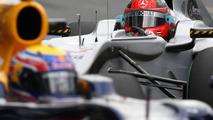 Michael Schumacher (GER), Mercedes GP Petronas, Mark Webber (AUS), Red Bull Racing, Australian Grand Prix, 27.03.2010 Melbourne, Australia
