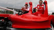 Fernando Alonso, Stefano Domenicali (ITA), Ferrai Roller Coaster abu Dhabi display, Spanish Grand Prix, 06.05.2010 Barcelona, Spain