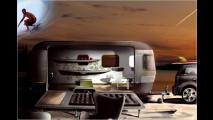 Mini mit Airstream-Hänger