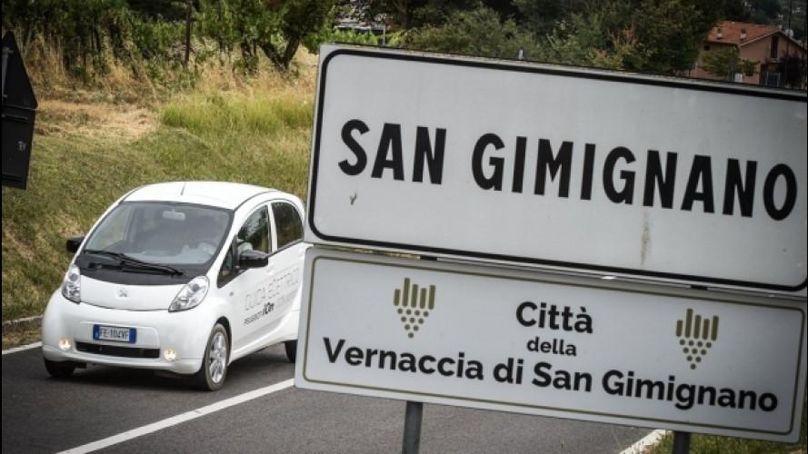 Peugeot, per le vie di San Gimignano ad impatto zero