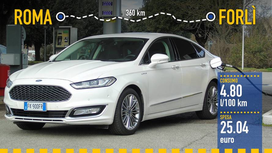 Ford Mondeo Hybrid, la prova dei consumi reali