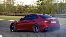 Alfa Romeo Giulia QV on track