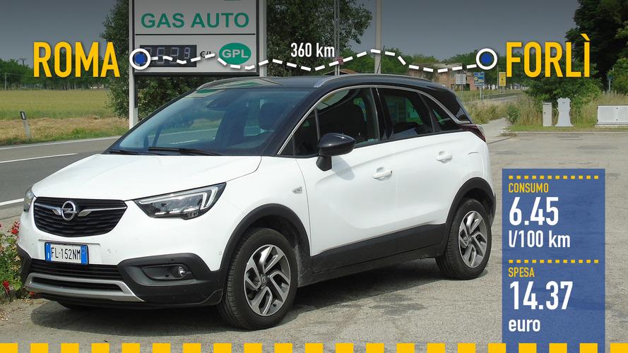 Opel Crossland X GPL, la prova dei consumi reali