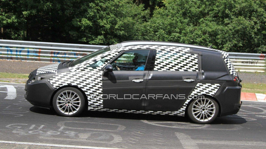 2012 Opel Zafira spied on Nurburgring for first time