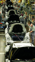 Porsche production 911 and Boxster assembly line 16.03.2010