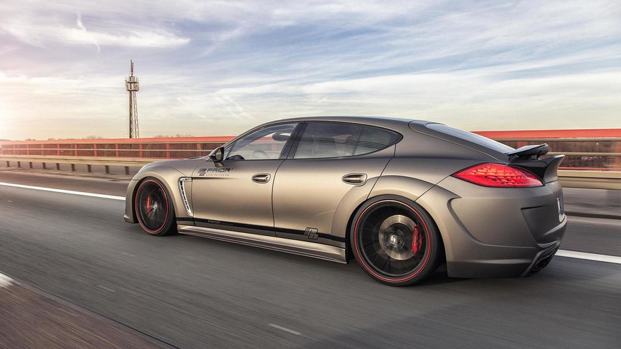 Porsche Panamera gains wide bodykit from Prior Design