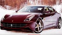 Ferrari sedan rendering