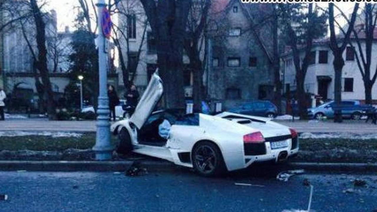 Lamborghini Murcielago crashed in Romania