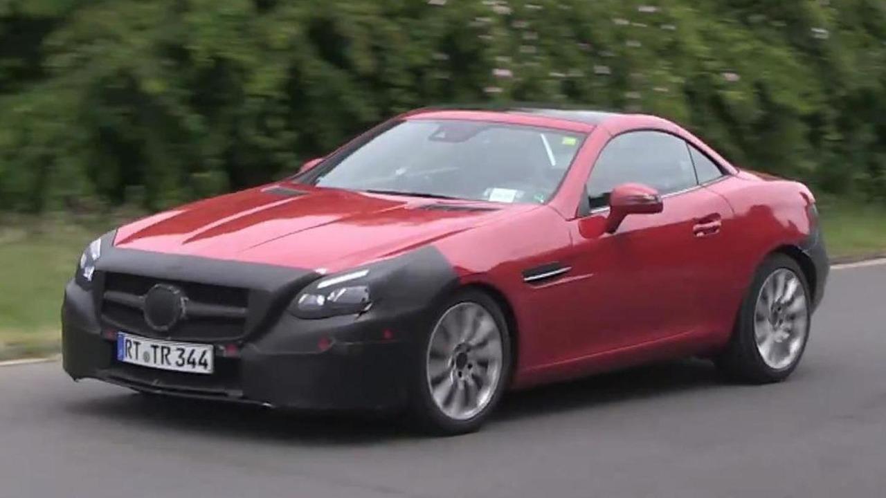 2016 Mercedes-Benz SLC screenshot from spy video