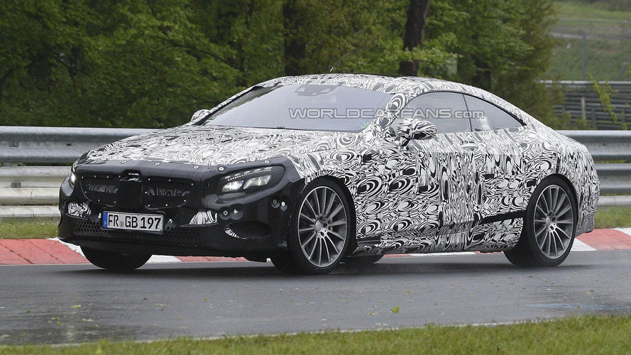 Mercedes S-Class Coupe spied on the Nurburgring
