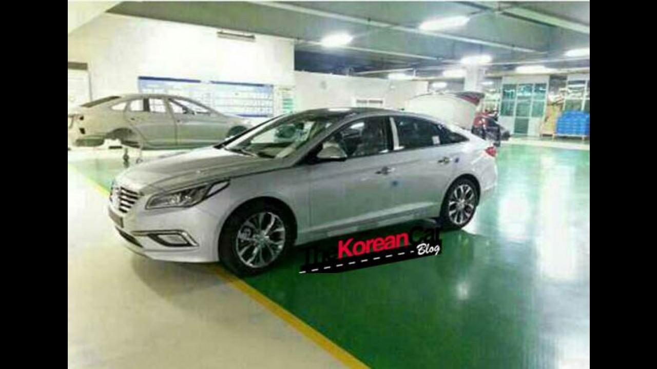 Flagra: novo Hyundai Sonata é visto sem camuflagem na Coreia do Sul