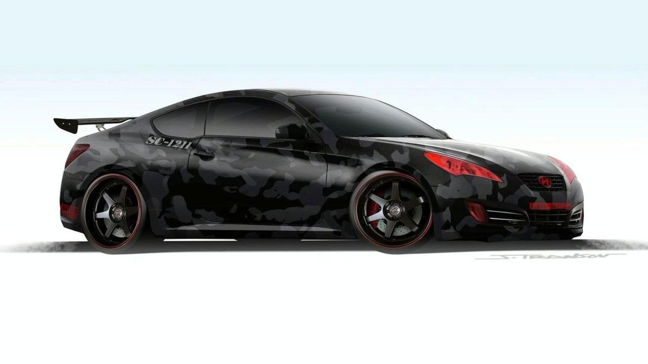 Street Concepts Hyundai Genesis Coupe sketch