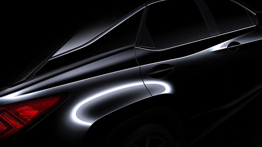 2016 Lexus RX teased ahead of New York launch
