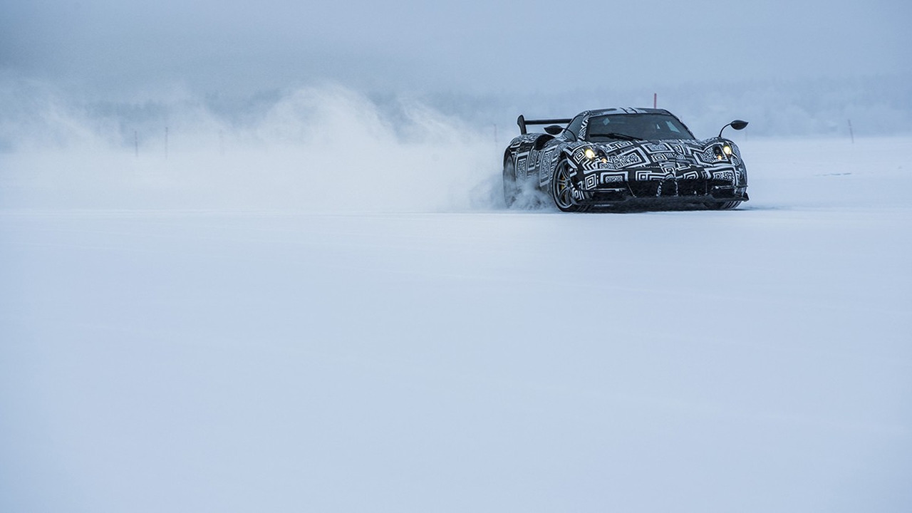 Pagani Huayra BC at the Arctic Circle