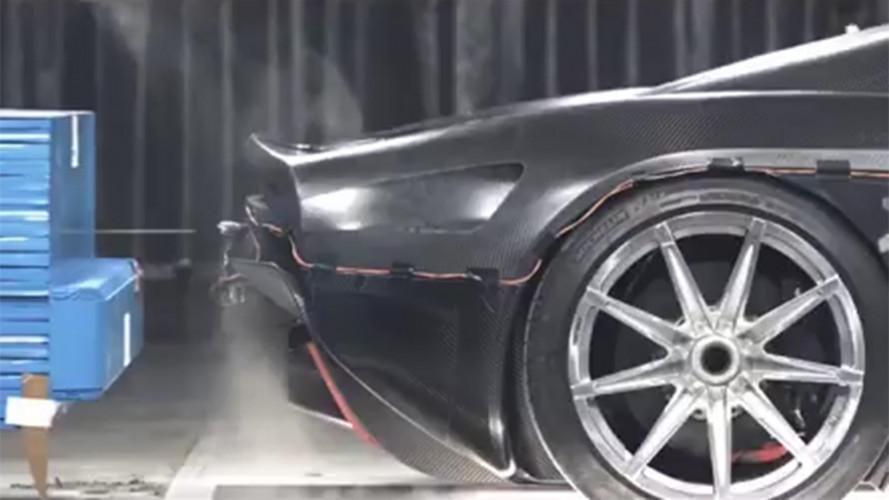 Koenigsegg Regera, i crash test di un'auto da 2 mln di euro