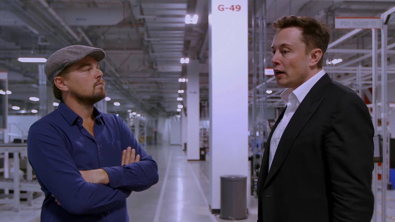 Leonardo DiCaprio meets Elon Musk