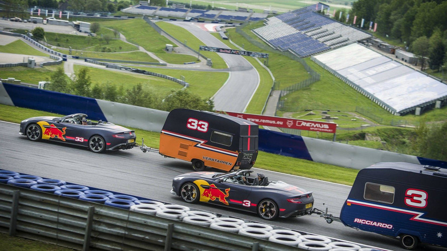 Red Bull's Daniel Ricciardo, Max Verstappen engage in caravan racing!