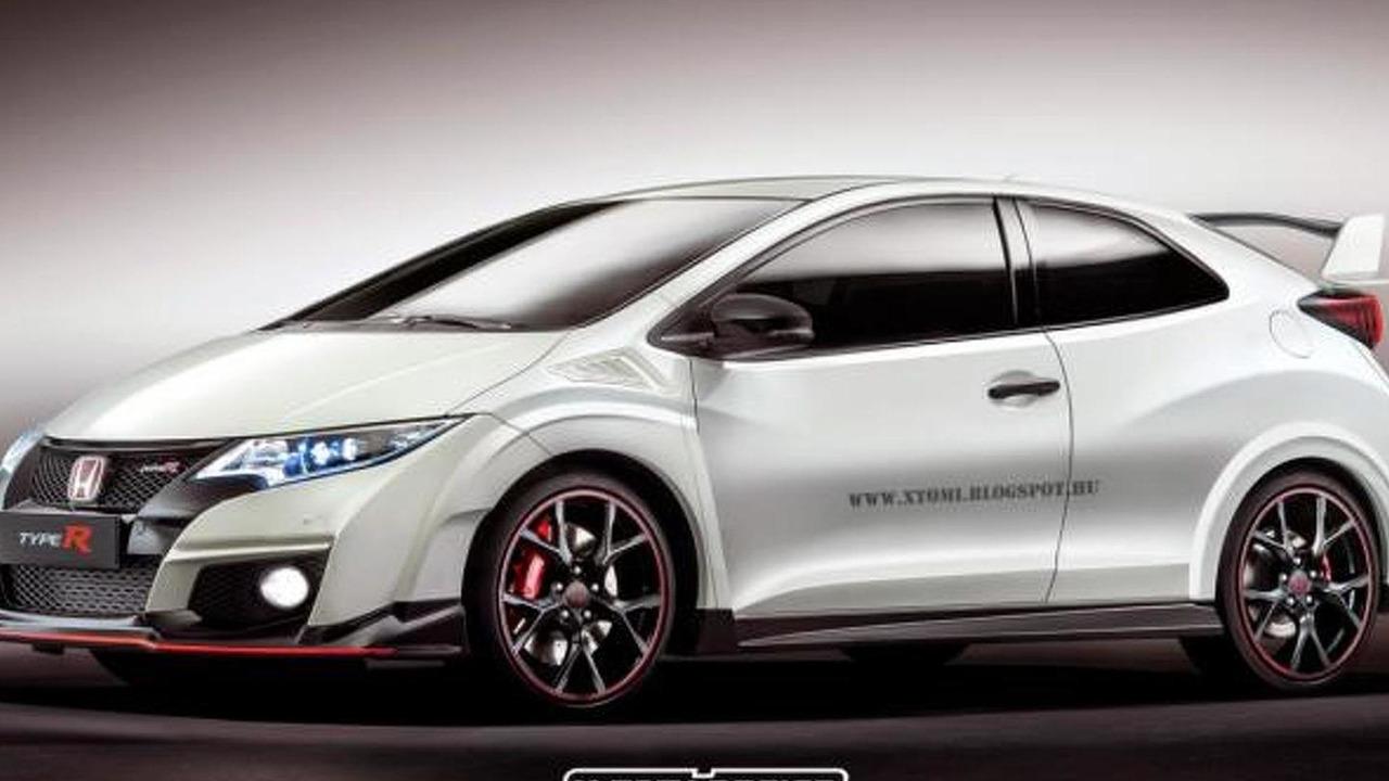Honda Civic Type R three-door render