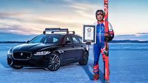 Jaguar XF Sportbrake récord esquí