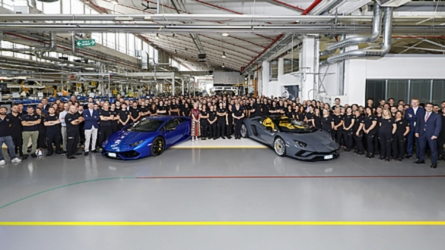 Lamborghini Celebrates Making 11,000th Huracan, 8,000th Aventador