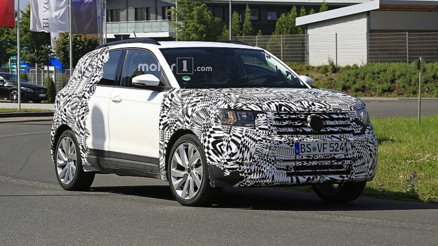 2019 vw t cross spied looking cute ahead of official debut. Black Bedroom Furniture Sets. Home Design Ideas