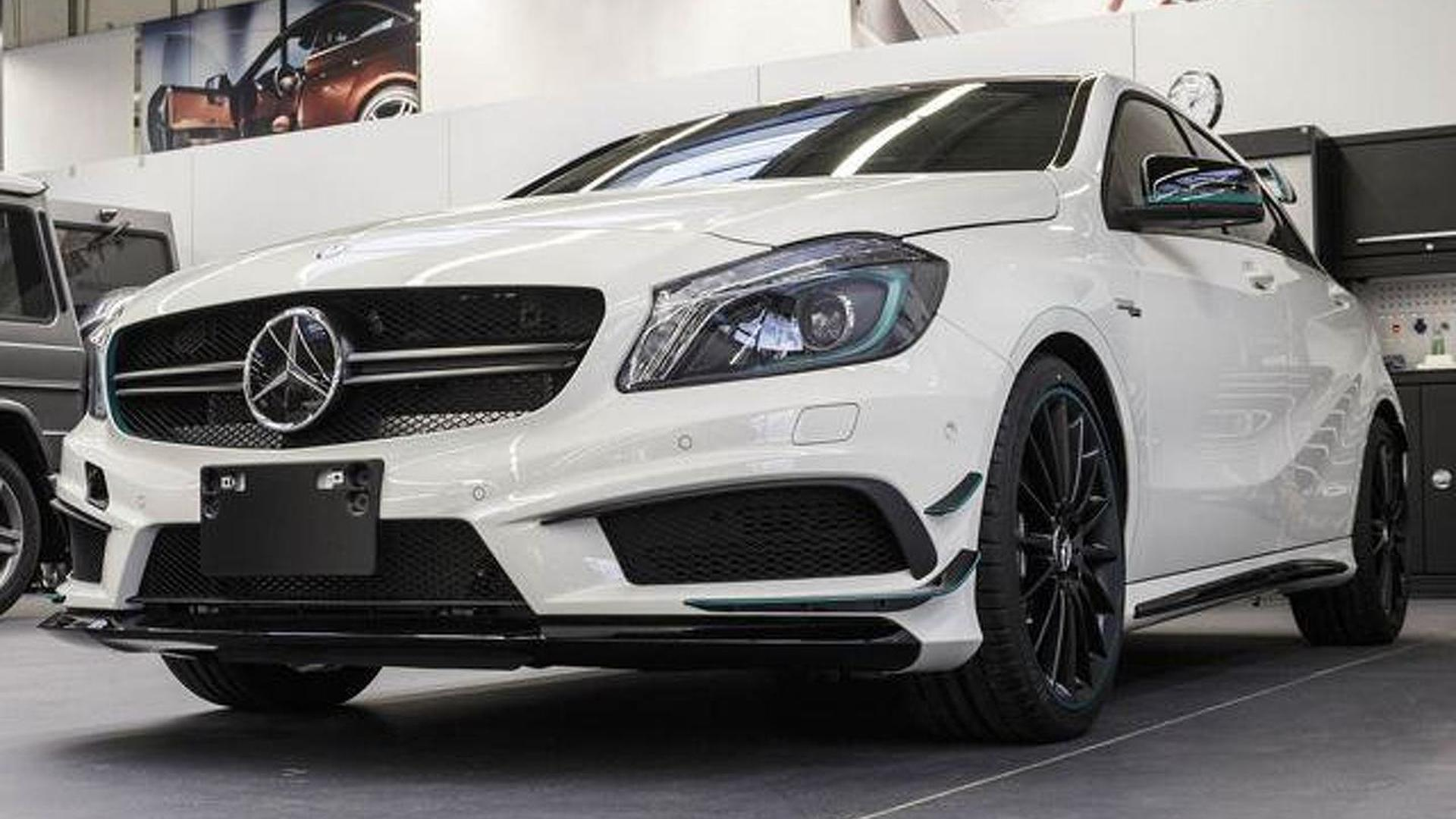 Green A45 Amg >> 2014 Mercedes-Benz A45 AMG PETRONAS Green Edition launched in Japan [video]