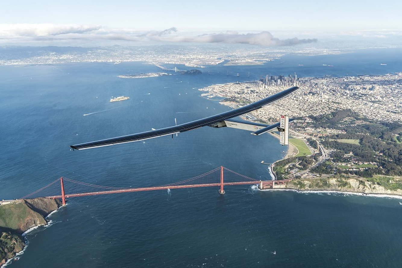 Solar-Powered Plane Finishes Pacific Leg of Around-the-World Trip