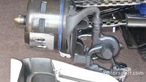 Sauber C35 brake duct detail