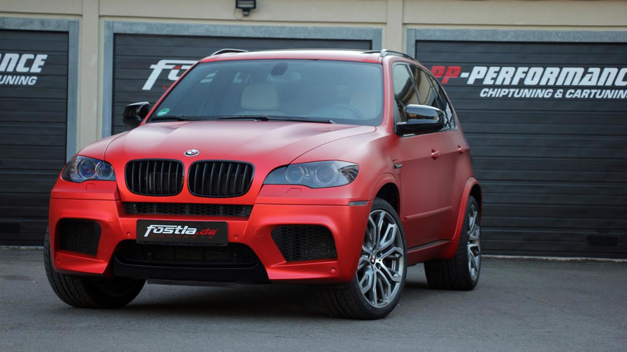BMW X5 M gets 650 PS and anodized matte red wrap