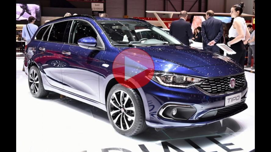 Vídeo: veja os novos Fiat Tipo hatch e perua no Salão de Genebra