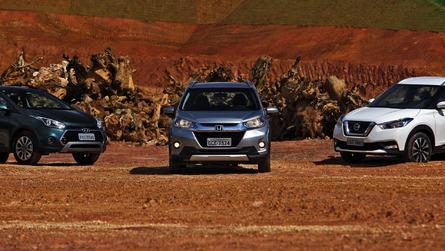 Comparativo Honda WR-V x Hyundai HB20X x Nissan Kicks - Sobre SUVs e aventureiros