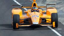 Fernando Alonso, Andretti Autosport Honda deja los pits por primera vez