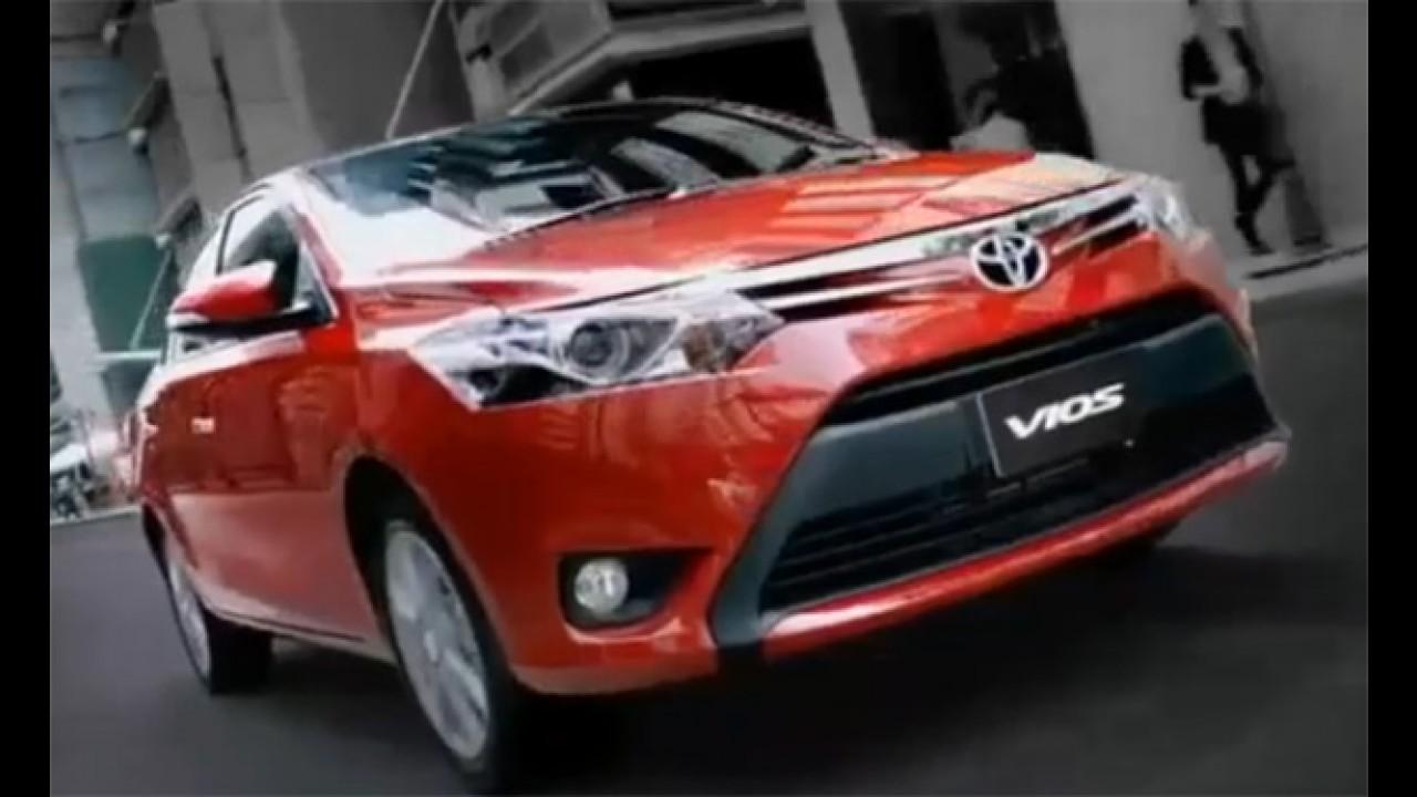 Vídeo: Toyota Vios, o possível sedã nacional