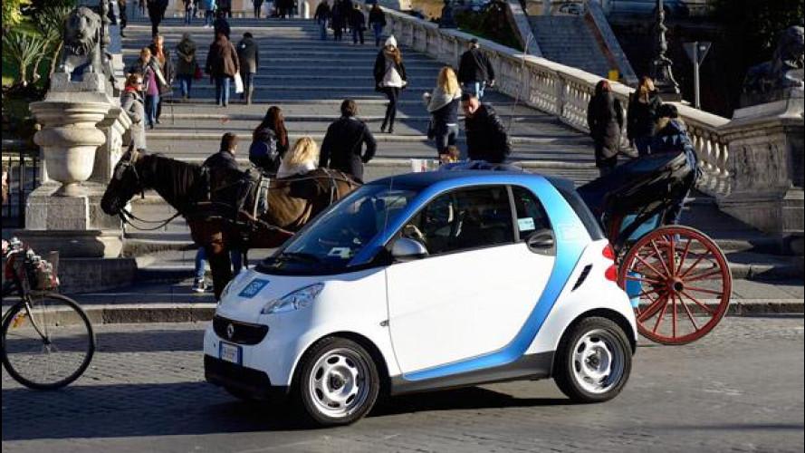 car2go a Roma: dal 15 marzo disponibili 300 smart in car sharing